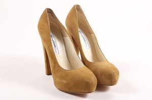 Brian Atwood Light Olive Green Pumps