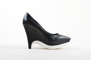 Stella McCartney White Black Platforms