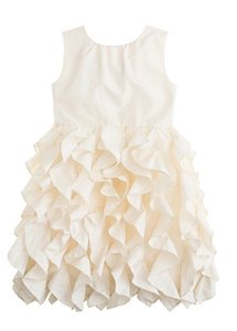 J.Crew Ivory Lyla Flower Girl Dress