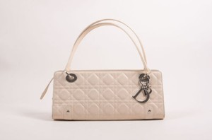 Dior Christian Lambskin Cannage Quilted Soft Lady East West Shoulder Bag