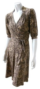 Laundry by Shelli Segal Tiewaist Faux Wrap Floral Dress