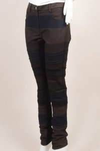 3.1 Phillip Lim Black Gray Knit Trim Patchwork Skinny Pants