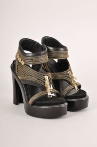 Givenchy Black Zippered Sandals