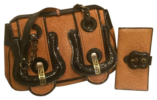 Fendi B Handbag Brown Leather Satchel Fendi B Handbag Brown Leather Satchel Image 1