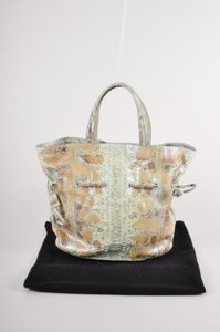 Nancy Gonzalez Greentanbrown Python Drawstring Tote in Multi-Color