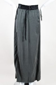 Helmut Lang Black Knit Maxi Skirt Gray