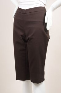Andrew Gn Brown Cotton Bermuda Shorts