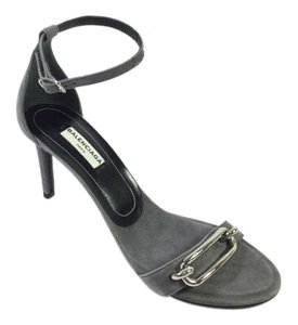Balenciaga Buckle Maillon Gray Sandals