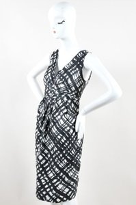 Lida Baday Biday Black White Plaid Dress