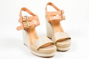 Chloé Chloe Taupe Tan Leather Beige Sandals