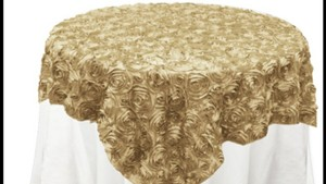 15 Champagne Rosette Tablecloths/overlays