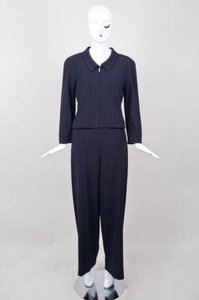Chanel Chanel Black Classic Wool Pant Suit