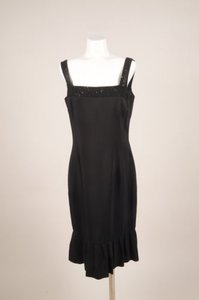 Badgley Mischka Black Beaded Dress
