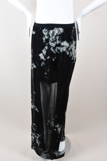 d795beff3a9 Raquel Allegra Black Gray Silk Tie Dye Maxi Skirt 1 low-cost ...