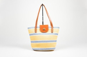 Eric Javits Yellow Gray White Tote in Multi-Color