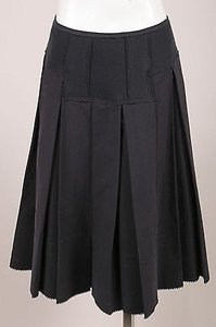 Donna Karan Collection Full Pleated A Line Skirt Black