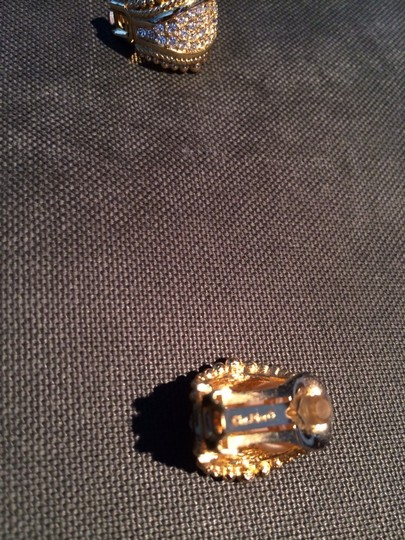 Dior Vintage Christian Dior Swarovski Crystal And Gold Earrings