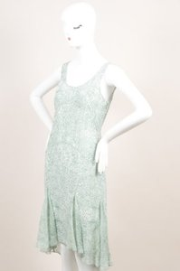 Jason Wu short dress Sage Green White Silk Sleeveless Handkerchief Hem on Tradesy