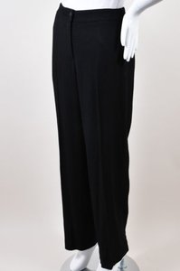 Chanel 02p Wool Blend Textured Straight Leg Trouser Pants