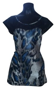 Body Central Top Teal/Black