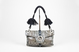 Lanvin K Silver Tone Shoulder Bag
