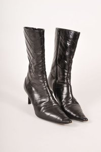 Michel Perry Black Leather Boots