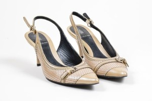 Fendi Leather Taupe Pumps