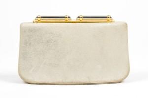 Rodo Tone Coated Suede Gold Clutch