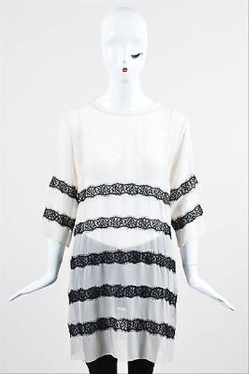 4379f915f5550 60%OFF By Malene Birger White Black Floral Lace Sheer Tunic - www ...