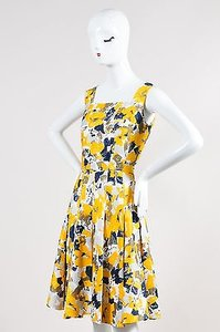 Oscar de la Renta short dress Multi-Color Yellow on Tradesy