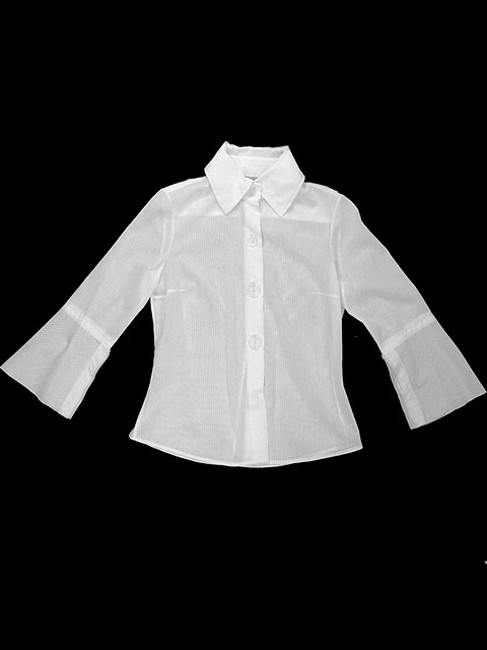 Tuleh Cotton Sheer Striped Button Down Shirt White