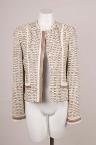 St. John Couture Creambrownpurple Jacket