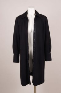 Fendi Black Wool Knit Long Jacket
