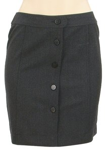 Chanel Mini Wool Pencil Mini Skirt Black