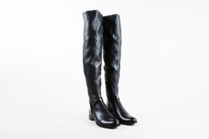 Alexandre Birman Leather Over Knee Black Boots