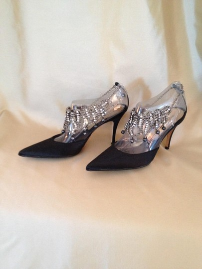 Dolce&Gabbana Crystal Slingback Black Formal