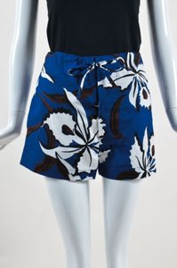 Marni Dark Blue White Brown Shorts Multi-Color