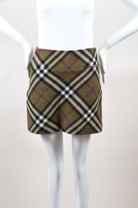 Burberry London Olive Mini Skirt Multi-Color