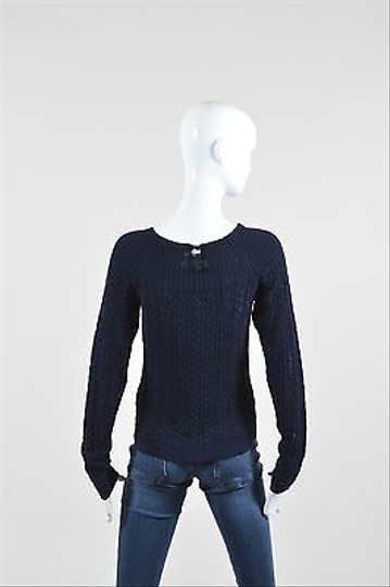a9134facfbe7 new Ralph Lauren Blue Label Navy Silk Blend Cable Knit Boat Neck Ls ...