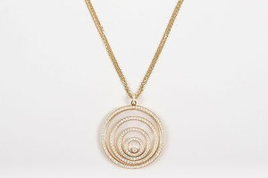 Chopard Chopard K 18kt Gold 3.17ct Diamond Happy Spirit Circle Pendant Necklace