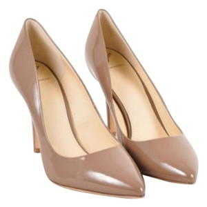 Brian Atwood B Taupe Patent Beige Pumps