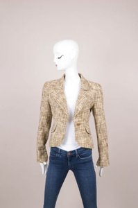 Chanel Chanel Browntan Tweed Long Sleeve Jacket
