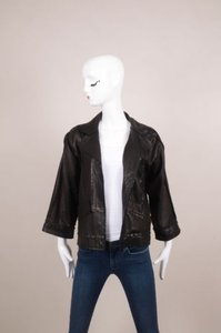 Fendi Black Leather Exposed Jacket
