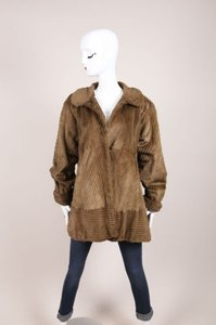 Other Vintage Fendi Fendissime Brown Green Sheared Beaver Fur Swing Coat