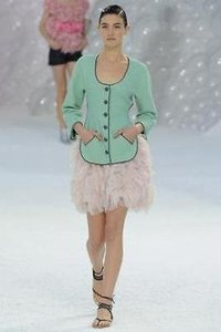 Chanel 12p Runway Mint Green Jacket