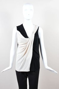 Lanvin Ivory Knit Top Black