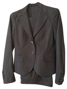 Theory Theory Ladies Pant Suit Grey Pinstripe