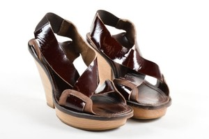Marni Patent Leather Brown Sandals