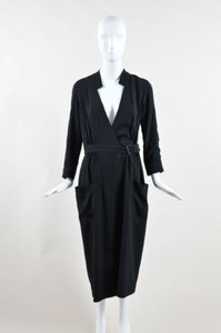 Wes Gordon short dress Black Crepe Wrap on Tradesy