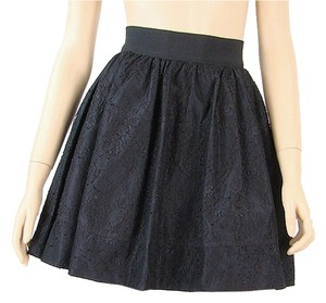 Dolce & Gabbana Lace Lace Trim Mini Flowy Mini Skirt Black